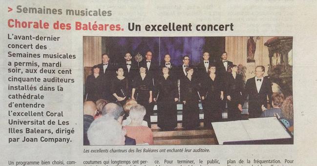 Coral de les Balears. Un concert excel·lent