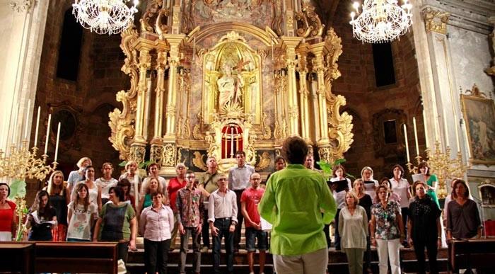 Assaig del Cor de Mestres Cantaires de la UIB