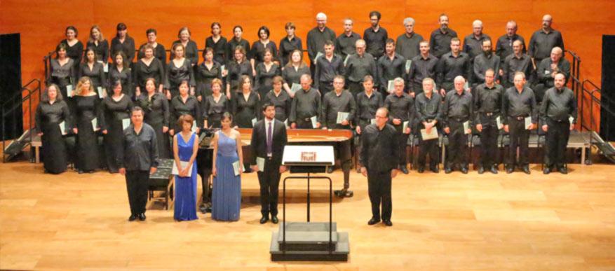 Acte d'inauguració del curs acadèmic de la UIB. Les corals cantaran al final l'himne universitari Gaudeamus igitur