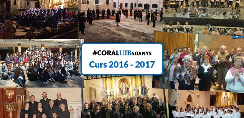 Coral Universitat de les Illes Balears i corals filials 2016 – 2017